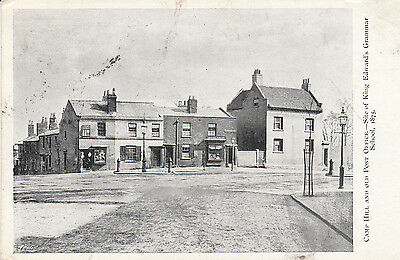 Old  P/c Camp Hill And Old Post Office, Birmingham, Warwickshire 1903