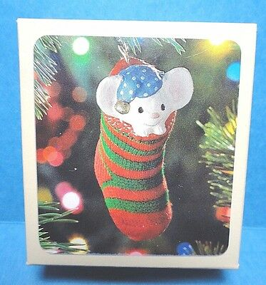 "Hallmark ""The Stocking Mouse"" Ornament 1981"