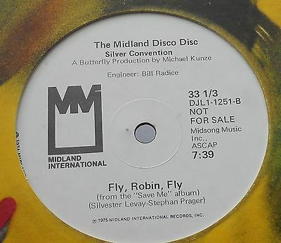 """Silver Convention - Fly Robin Fly - Midland Int. US ORIGINAL 12"""" 1975 VERY RARE"""