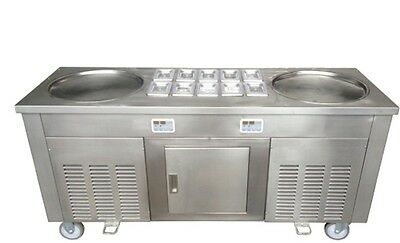 Double Pan Fried Icecream Roll Machine with 10 compartments, 'UK SELLER'