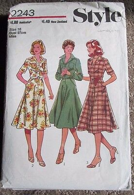 Vintage Style sewing pattern 2243 bust 38 dress 1970s complete