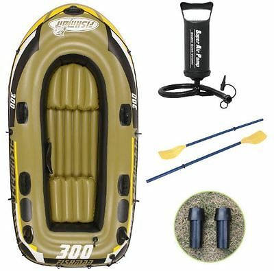 Inflatable Boat Inflatable Dinghy 3 People Fishing Boat With Oars