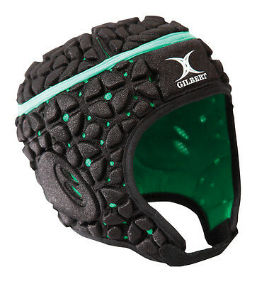 Clearance Line New Gilbert Rugby Virtuo Headguard Black / Green Small Boys