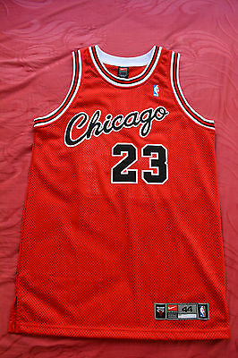 MICHAEL JORDAN Jersey Nike AUTHENTIC 44 Red Chicago Bulls Rookie New LARGE L