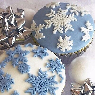 Aus Seller.for FROZEN cupcakes...SNOWFLAKE Fondant/chocolate Silicone Mould..new