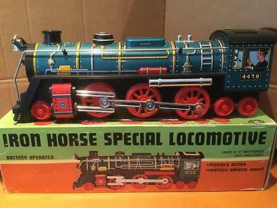 Masudaya Modern Toys 4479 Iron Horse Special Locomotive tin plate toy Japan NMIB