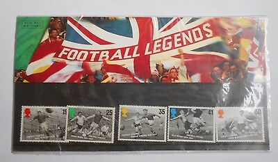 Football Legends Stamps Set Of Five Issued 1996 With Card Mint MNH