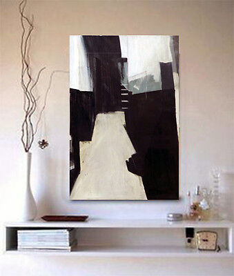 Oil Painting  - Sam HUGHES - Foyer signed artwork black white