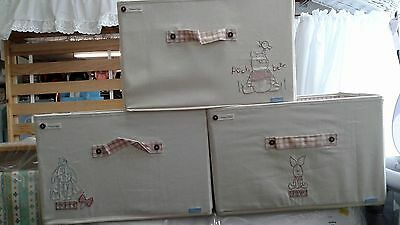 Mamas and Papas Winnie the pooh storage boxes - set of 3
