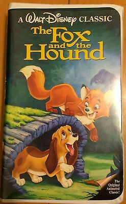 Rare Black Diamond Fox And The Hound The Classics Disney Vhs Tape
