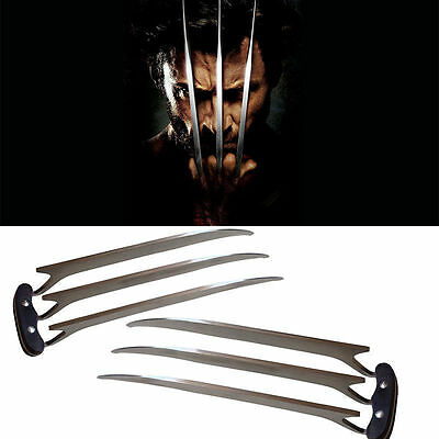 2 pcs X-men Wolverine Stainless Steel Claws Blade Cosplay Logan Movie Props Hall