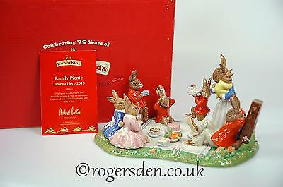 Royal Doulton  Bunnykins Tableau Family Picnic DB 481 LTD Edition of Only 400