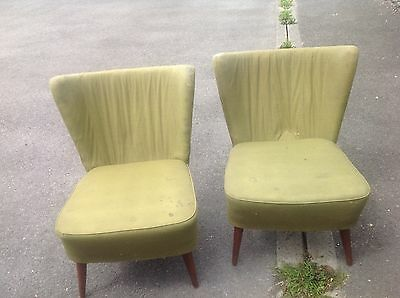 Antique  pair of 1960s vintage cocktail chairs. Needs a bit of T.l.C