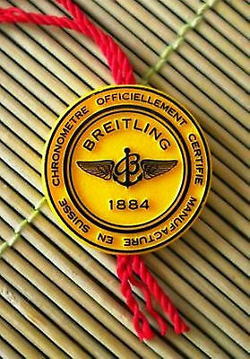 ORIGINAL * BREITLING * BADGE * ANHÄNGER * TICKET * TAG * SIEGEL * Button *
