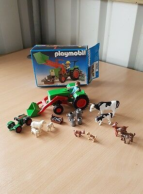 Playmobil 3500 Vintage Farm Tractor With Box and Animals Mixed lot