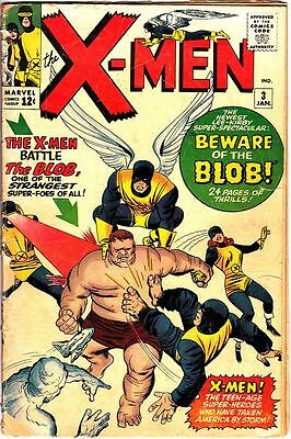 X-Men #3 (Jan 1964) 1st Appearance: The Blob (Silver Age Comic) Good/VG 3.0