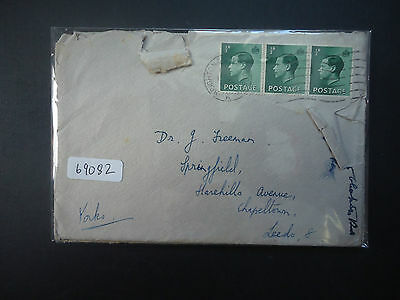Great Britain 1937 Edward VIII 2x Covers (6x 1/2d Stamps) (Distressed)