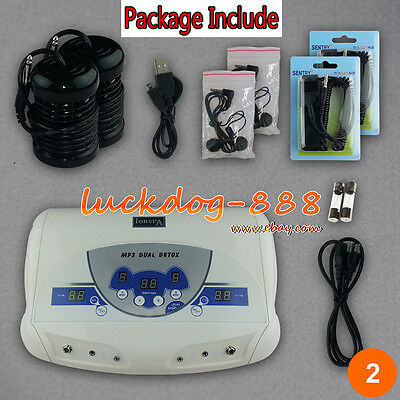 Special Offers! Dual Chi Ionic Detox Machine Foot Bath Cell Aqua Spa Cleanse Mp3