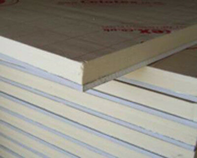 7no Celotex Insulated Plasterboards 1200x2400mm (25mm insulation + plasterboard)