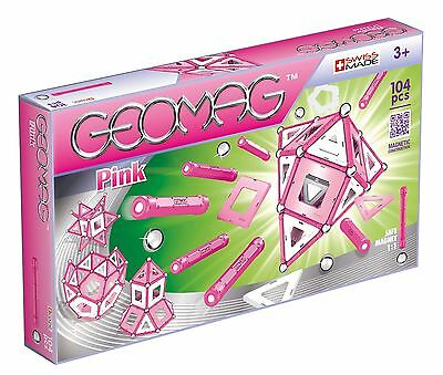 GEOMAG 344 Pink Magnetic Construction Set (104-Piece)
