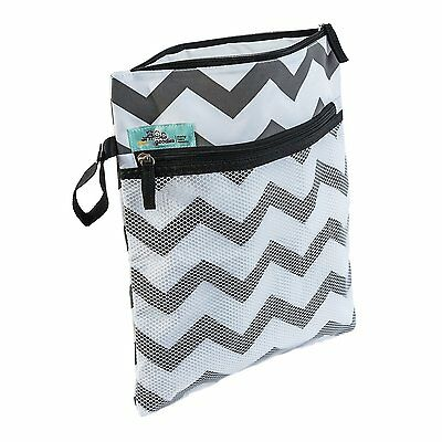 Baby Wet / Dry Reusable Diaper Bag Premium Travel Cotton Canvas With Waterproof