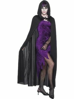 Smiffy's Cape Hooded Vampire Costume - Black
