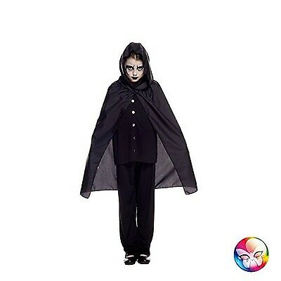 Genericaq01805/Black Cape with Hood 70cm Black One Size