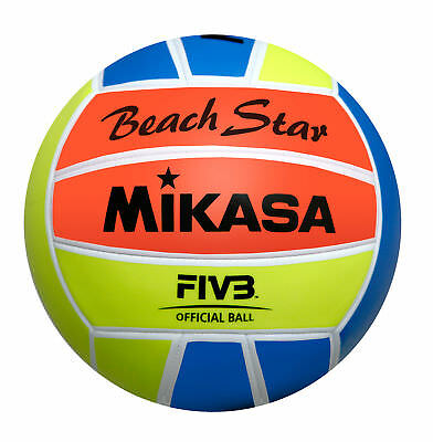 Mikasa Beachvolleyball Beach Star Ball Freizeit Trainings Ball
