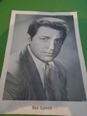 Original Vintage Country and Western B/W 6 x 4 Photo of Bob Luman