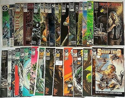 Swamp Thing 25 books from issue 60-97Alan Moore VF/NM signed John Tottleben