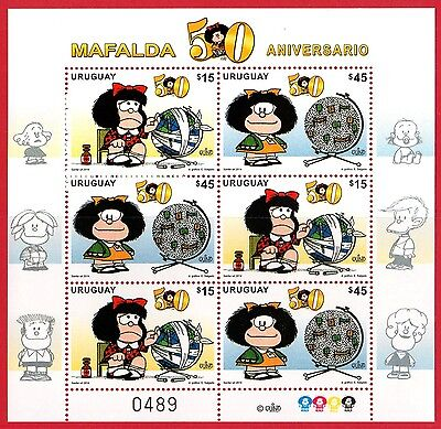 Uruguay - 2014 - Cartoons - Comics - Mafalda- Mini Sheet with 6 stamps