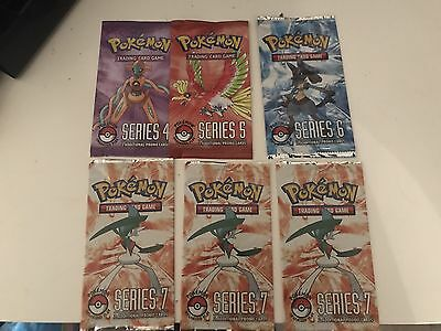 6X Pokemon POP Series Booster Packs - Series 4, 5, 6 & 7