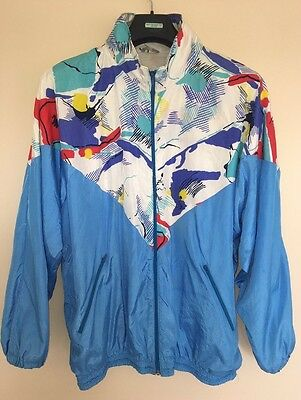 Retro 80's And 90's Shellsuit Jacket Colourful Windbreaker Xl-Xxl