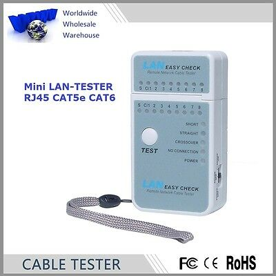 FREE SHIPMENT of Mini LAN Tester for RJ45 Cat5 Cat6 Networks - Special Offer!