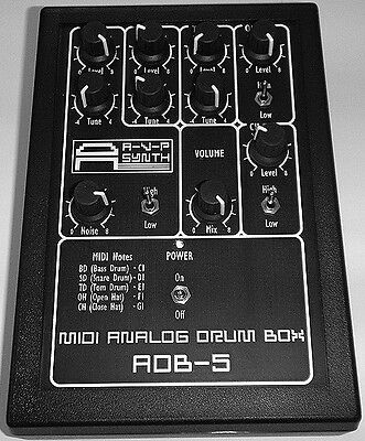 AVP Synth ADB-5 Analog Drum Box in Excellent Condition