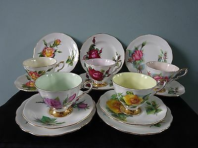 Royal Standard Harry Wheatcroft Roses Bone China Part Tea Set/Service for 5