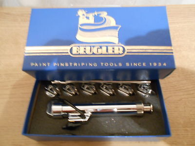 PINSTRIPING Tool/Beugler Pro.STRIPER Kit -DVD- INSTRUCTIONS/HOT RODS/MOTORCYCLES