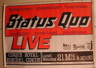 Status Quo -  / Size : 70x100cm / VINTAGE POSTER SENT ROLLED