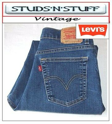"Vintage Levis 512's Slim Tapered  Fit Jeans W32"" L27"" Aprox Size Uk 12 (T695)"