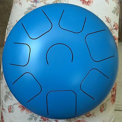 Handpan 12 inch Steel Tongue Drum/Tank Drum(Bag & 2sticks included) Oceanic Blue