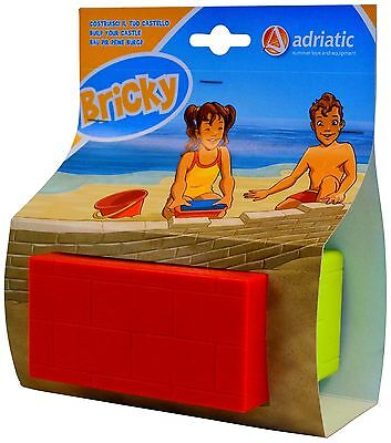Adriatic 12 x 6 x 8 cm Beach Toys Tools ABS Brick Mould in Box