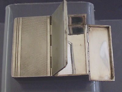 Argent Massif Boite Etui A Cartes Sterling Solid Silver Card Box Art Deco