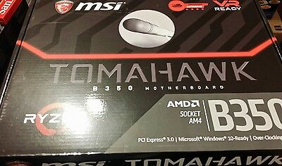 MSI B350 TOMAHAWK - ATX Motherboard for AMD Socket AM4 CPUs