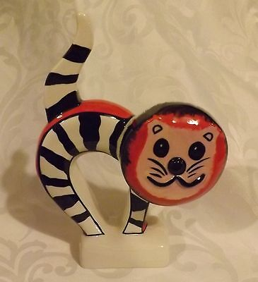 Unusual Lorna Bailey Cat  Bendy and Striped  Signed in Black