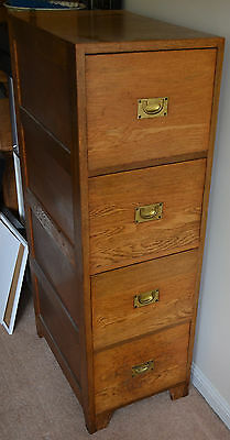 Vintage 20th C Wooden Filing Cabinet Office Storage Retro Ex Arcitechts Office