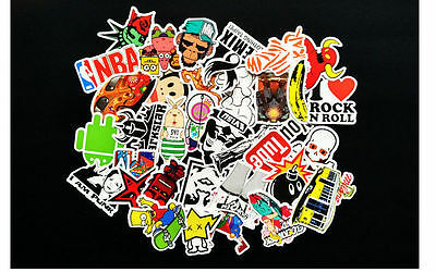 50 x random vinyl decal graffiti sticker bomb laptop waterproof stickers skate