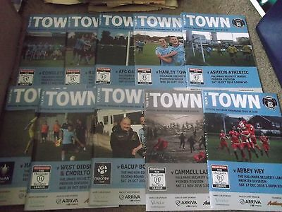 2016/17 Runcorn Town Programme Collection X 10 North West Counties League