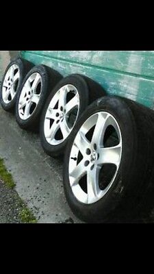 "Genuine Peugeot 407 Expert Scudo x4 Alloy Wheels + Tyres 17"" inch Bargain!!"