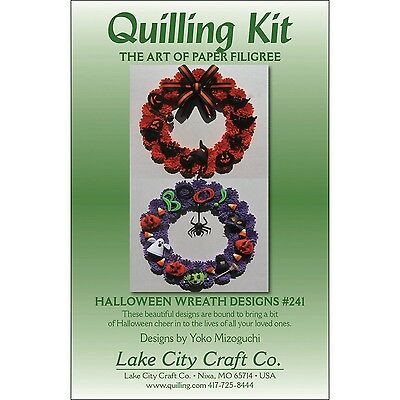 Lake City Craft Paper Quilling Kit halloween Wreaths