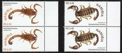 Namibia - Scorpions - 2012 - Two sets of 4 stamps